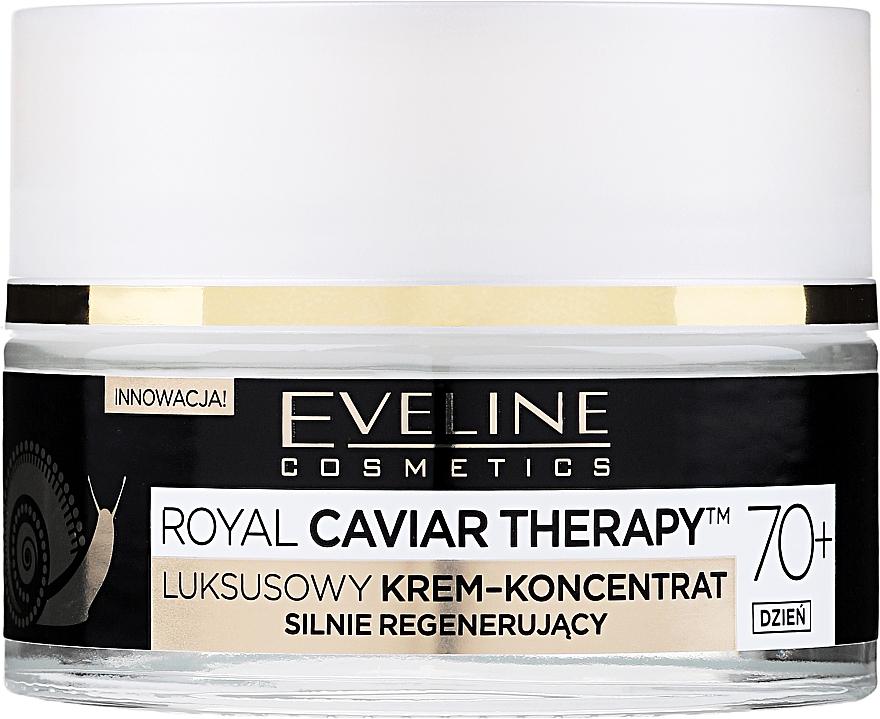 Luxusní denní krémový koncentrát hluboce regenerující 70+ - Eveline Cosmetics Royal Caviar Therapy Day Cream 70+