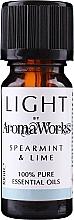 Parfémy, Parfumerie, kosmetika Esenciální olej Máta a limetka - AromaWorks Light Range Spearmint and Lime Essential Oil