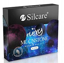Parfémy, Parfumerie, kosmetika Sada - Silcare Flexy Moonstone Hybrid Gel Set (nail/polish/4x4.5g)