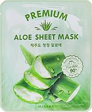 Parfémy, Parfumerie, kosmetika Zklidňující pleťová maska s extraktem z aloe - Missha Premium Aloe Sheet Mask