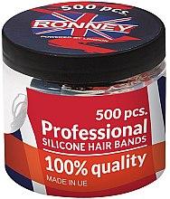 Parfémy, Parfumerie, kosmetika Silikonové gumičky na vlasy, černé - Ronney Professional Silicone Hair Bands