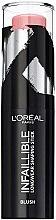 Parfémy, Parfumerie, kosmetika Tvářenka v tyčince na obličej - L'Oreal Paris Infaillible Blush Shaping Stick