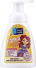 Parfémy, Parfumerie, kosmetika Dětská intimni mycí pěna, princezna 2 na žlutém pozadí - Skarb Matki Intimate Hygiene Foam For Children