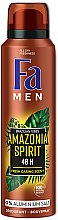 "Parfémy, Parfumerie, kosmetika Deodorant -sprej ""Rytmy Brazílie. Amazonia Spirit"" - Fa Men"