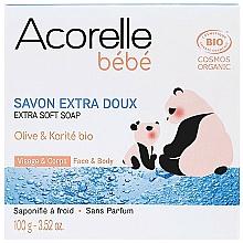 Parfémy, Parfumerie, kosmetika Dětské mýdlo s olivovým olejem a bambuckým máslem - Acorelle Baby Soap Extra Soft