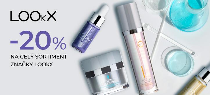 Sleva 20% na celý sortiment značky LOOkX. Ceny na webu jsou včetně slev