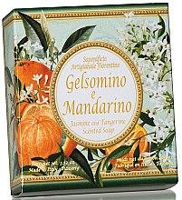 Parfémy, Parfumerie, kosmetika Prírodní mýdlo Jasmín a mandarinka - Saponificio Artigianale Fiorentino Jasmine & Tangerine Soap