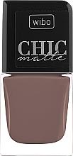 Parfémy, Parfumerie, kosmetika Matný lak na nehty - Wibo Chic Matte