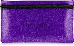 "Parfémy, Parfumerie, kosmetika Silikonová kosmetická taška, fialová ""Glitter Pouch"", 22x13cm - MakeUp"