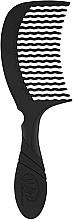 Parfémy, Parfumerie, kosmetika Hřeben na vlasy, černý - Wet Brush Pro Detangling Comb Black