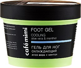 Parfémy, Parfumerie, kosmetika Chladivý gel na nohy s aloe vera a mentolem - Cafe Mimi Foot Gel Cooling Aloe Vera & Menthol
