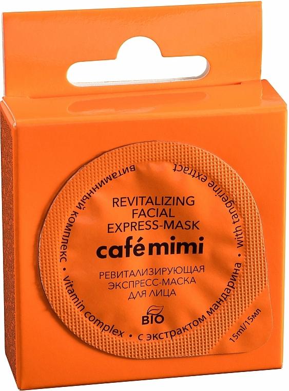 """Revitalizační expresní maska na obličej """"Vitaminový komplex"""" s extraktem z mandarinky - Cafe Mimi Revitalizing Facial Express-Mask"""