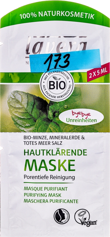 BIO čisticí pleťová maska - Lavera Bio-Mask Cleansing — foto N1