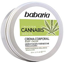 Parfémy, Parfumerie, kosmetika Tělový krém - Babaria Cannabis Moisturizing Body Cream