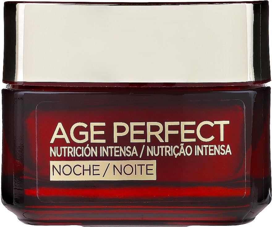Noční krém na obličej - L'Oreal Paris Age Perfect Intense Nutrition Rich Cream 60+ Night Cream — foto N1