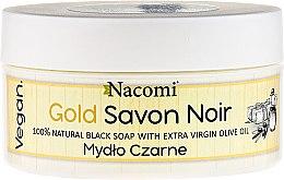 Parfémy, Parfumerie, kosmetika Černé mýdlo s olivovým olejem - Nacomi Savon Noir Natural Black Soap with Extra Virgin Olive Oil