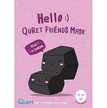 Parfémy, Parfumerie, kosmetika Maska na obličej na základě dřevěného uhlí - Quret Hello Friends Mask Charcoal