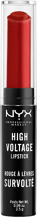 Rtěnka - NYX Professional Makeup High Voltage Lipstick — foto N1