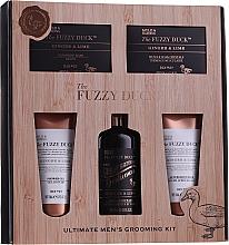 Parfémy, Parfumerie, kosmetika Sada - Baylis & Harding Men's Fuzzy Duck Ginger & Lime Lixury Ultimate Grooming Kit (shm/300ml+soap/150g+sh/gel/130ml+ash/balm/130ml)