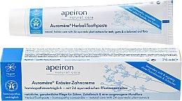 Parfémy, Parfumerie, kosmetika Homeopatická zubní pasta - Apeiron Herbal Toothpaste Homeopathic