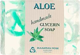 "Parfémy, Parfumerie, kosmetika Glycerinové mýdlo ""Aloe"" - Bulgarian Rose Green Cherry Aloe Soap"