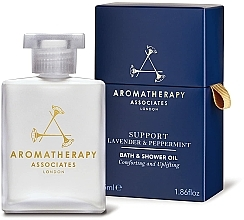 Parfémy, Parfumerie, kosmetika Olej do koupele a sprchy s levandulí a mátou - Aromatherapy Associates Support Lavender & Peppermint Bath & Shower Oil