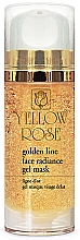 Parfémy, Parfumerie, kosmetika Gelová maska na obličej se zlatem - Yellow Rose Golden Line Face Radiance Gel Mask
