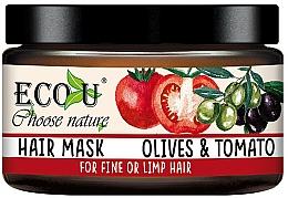 Parfémy, Parfumerie, kosmetika Maska pro tenké vlasy Rajče a olivy - Eco U Mask For Fine Hair