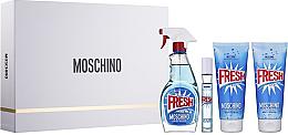 Parfémy, Parfumerie, kosmetika Moschino Fresh Couture - Sada (edt/100ml + edt/10ml + b/lot/100ml + sh/gel/100ml)