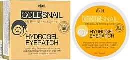 Parfémy, Parfumerie, kosmetika Hydrogelové náplasti pod oči se zlatem a hlemýždím mucinem - Ekel Ample Hydrogel Eyepatch