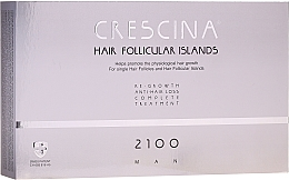 Parfémy, Parfumerie, kosmetika Komplex pro léčbu vypadávání vlasů u mužů 1200 - Labo Crescina Hair Follicular Island Re-Growth Anti-Hair Loss Complete Treatment 2100 Man