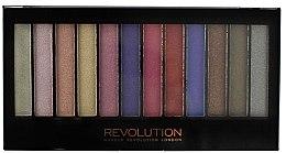 Parfémy, Parfumerie, kosmetika Paleta očních stínů, 12 odstínů - Makeup Revolution Redemption Palette Unicorns Are Real