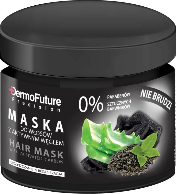 Vlasová maska s aktivním uhlím - DermoFuture Hair Mask With Activated Carbon