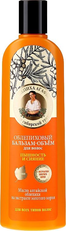 Rakytníkový balzám na vlasy Objem, nádhernost a lesk - Recepty babičky Agafyy