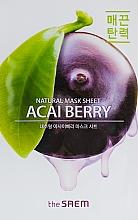 Parfémy, Parfumerie, kosmetika Plátýnková pleťová maska s extraktem z plodů Acai - The Saem Natural Acai Berry Mask Sheet
