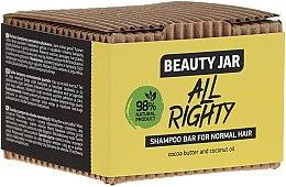 Parfémy, Parfumerie, kosmetika Tuhý šampon pro normální vlasy s kokosovým a kakaovým máslem - Beauty Jar Hair Care All Righty Shampoo