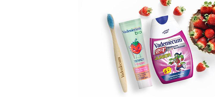 K nákupu jakéhokoliv produktu Vademecum získej jako dárek dětský zubní kartáček dle výběru