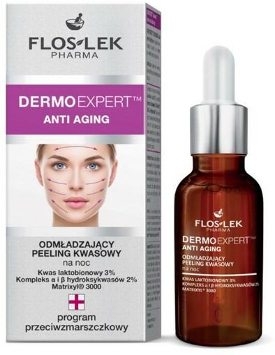 Omlazující noční kyselinový peeling na obličej - Floslek Dermo Expert Anti Aging Peeling — foto N1