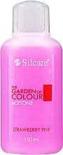 "Parfémy, Parfumerie, kosmetika Odstraňovač laku ""Jahoda"" - Silcare The Garden Of Colour Aceton Strawberry Pink"