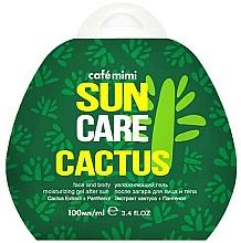 Parfémy, Parfumerie, kosmetika Hydratační gel po opalování na obličej a tělo Kaktus - Cafe Mimi Sun Care Cactus