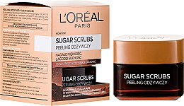 Parfémy, Parfumerie, kosmetika Výživný peeling na obličej - L'Oreal Paris Sugar Scrubs