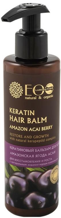 Keratinový balzám pro obnovu a růst vlasů - ECO Laboratorie Keratin Hair Balm Amazon Acai Berry