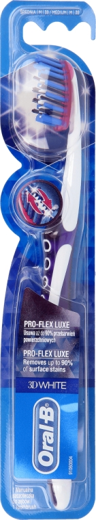 Kartáček na zuby, fialový - Oral-B Proflex 3D White Luxe 38 Medium — foto N1