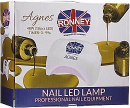 Parfémy, Parfumerie, kosmetika LED lampa na nehty, černá - Ronney Profesional Agnes Pro LED 48W (GY-LED-032)