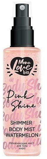 Tělová mlha Vodní meloun - MonoLove Bio Shimmer Body Mist Watermelon Pink Shine