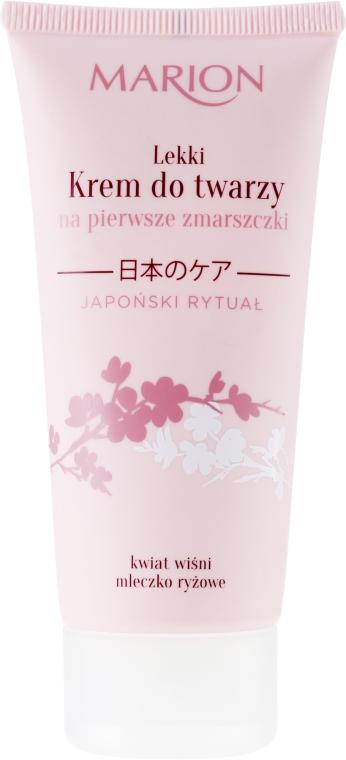 Krém na obličej proti prvním vráskám - Marion Japanese Ritual Light Face Cream for First Wrinkles