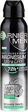 Parfémy, Parfumerie, kosmetika Deodorant-antiperspirant - Garnier Mineral Men Mineral Magnesium Ultra-Dry Anti-Perspirant Spray