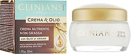 Parfémy, Parfumerie, kosmetika Vyživující krém - Clinians Argan Crema & Olio Cream