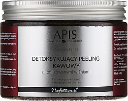 Parfémy, Parfumerie, kosmetika Tělový detox peeling Cherry - Apis Professional Detoxifying Coffee Scrub Cherry