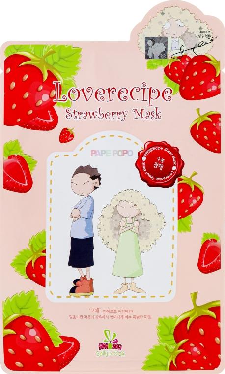 Látková maska na obličej s extraktem z jahod - Sally's Box Loverecipe Strawberry Mask